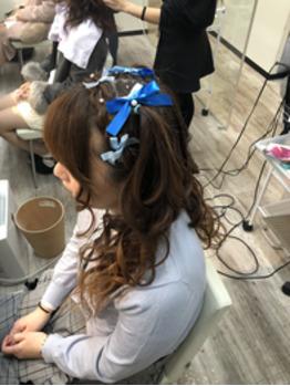 嵐のライブコンサートへ参加されるお客様のヘアセット写真