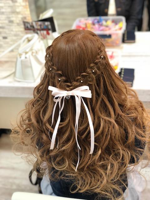 ウレアのヘアセット写真