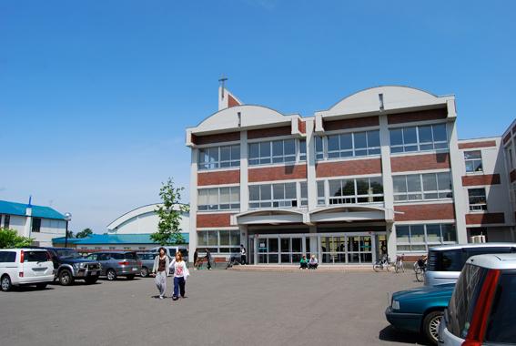 北星余市高等学校の校舎写真