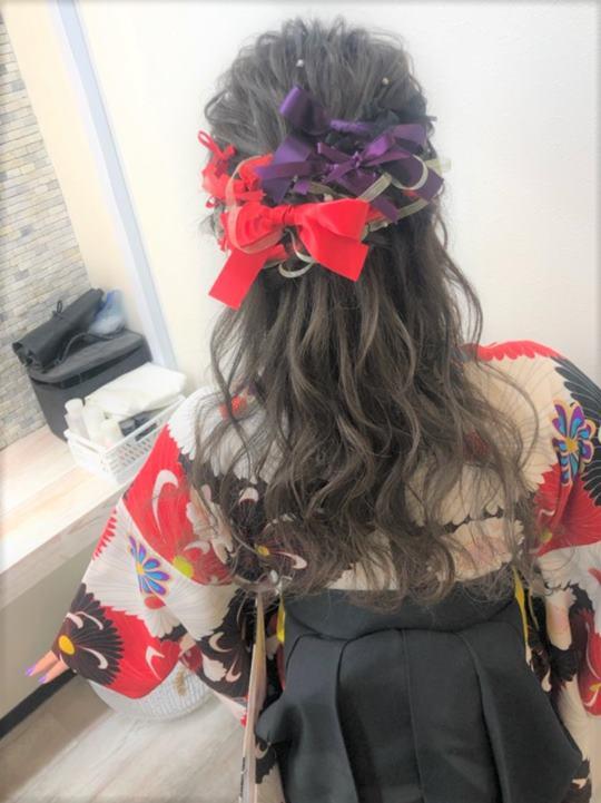 ウレアで卒業式の着付け&ヘアセットを受けたお客様写真