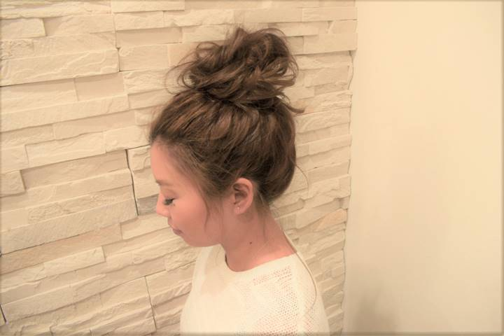 ウレアのヘアセットを受けられた方の写真