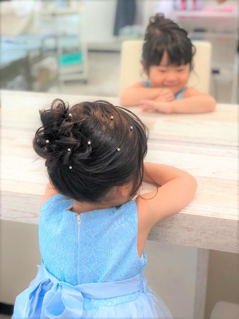 ウレアのキッズヘアセットサンプル写真