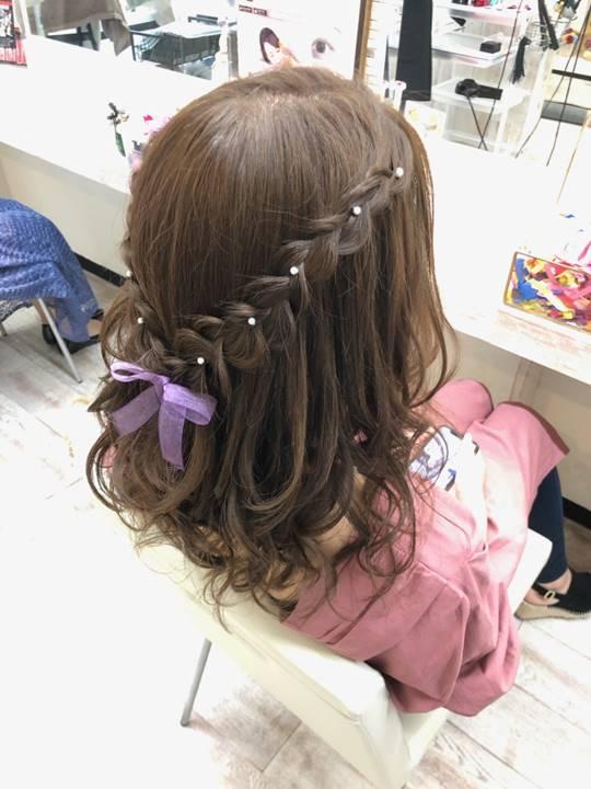 札幌で行われた嵐のライブに参加したお客様のヘアセット写真