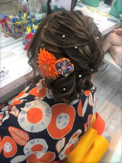 ウレアでヘアセットを受けたお客様の写真