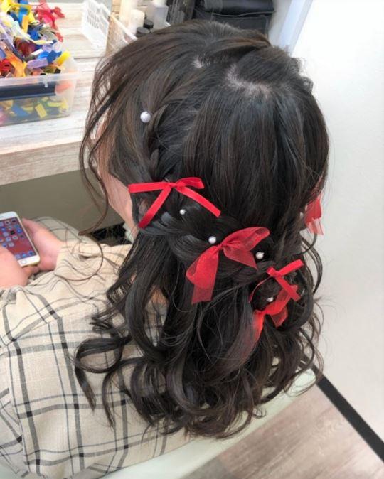 ウレアのライブヘアセットを受けられた方の写真