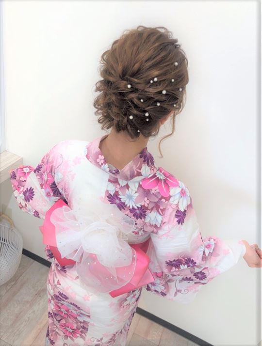 札幌ウレアの浴衣着付けの参考写真