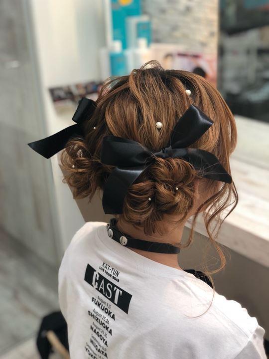 ウレアのコンサートヘアセット写真