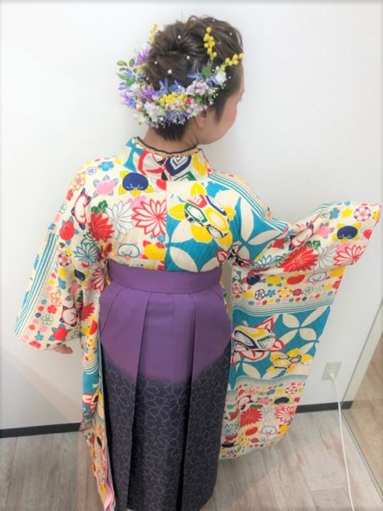 ウレアの成人式・卒業式ヘアセット&着付け写真