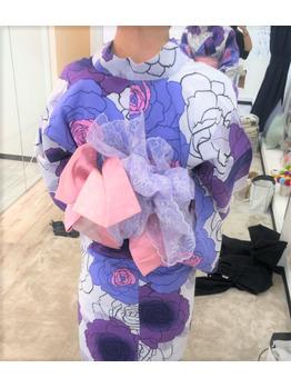 花火大会のときの、ウレアによる浴衣着付け参考写真