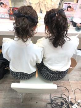 ウレアのヘアセット(可愛い系アレンジ)の写真