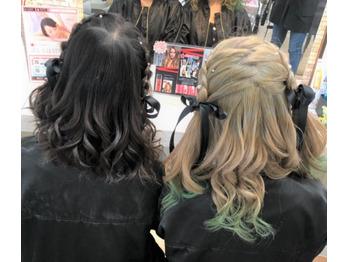 ウレアのヘアセット(お友達とおそろい)の写真