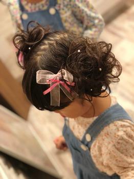 ウレアのヘアセット(キッズお団子ヘア)の写真